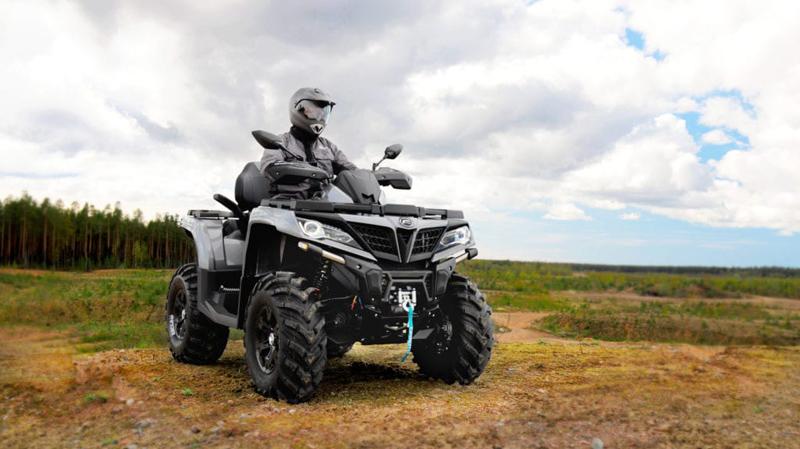 Квадроцикл CFORCE 800 HO EPS серый металлик